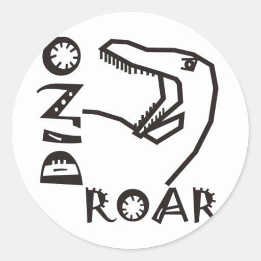 Raptor ROAR Round Sticker