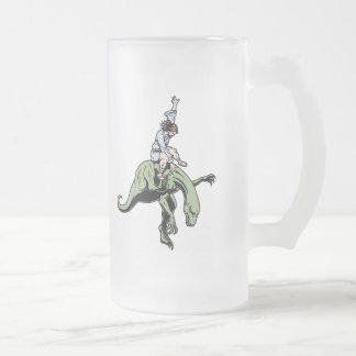 Raptor Rodeo Jesus Frosted Glass Beer Mug