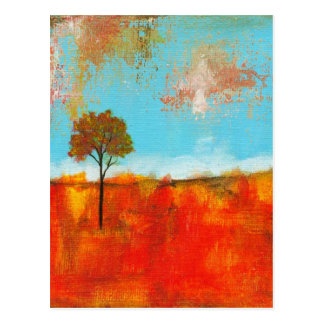 Rapture Abstract Landscape Tree Art Painting Postcard