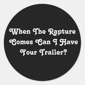 Rapture Garage Sale Round Sticker