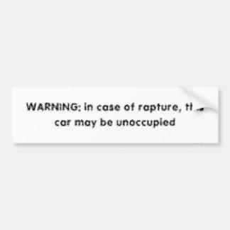 Rapture sticker