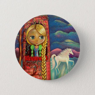 Rapunzel and the Unicorn Button