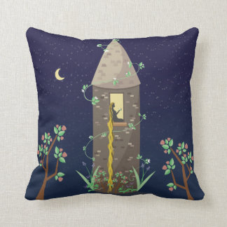 Rapunzel at Night Throw Pillow