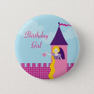 Rapunzel Birthday Button