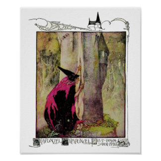 Rapunzel by Anne Anderson Print
