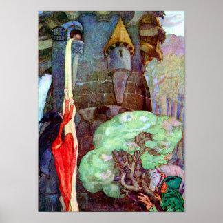 Rapunzel Fairy Tale by Anne Anderson Print
