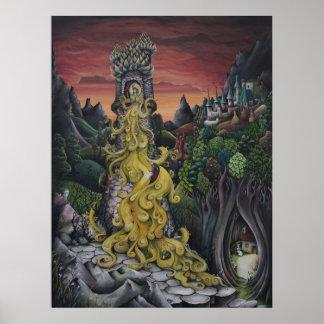 Rapunzel Fairy Tale painting Poster