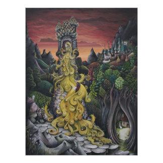 Rapunzel Fairy Tale painting print Photographic Print