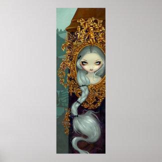 Rapunzel in Rococo gothic fairy tale Art Print