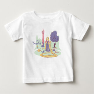 Rapunzel & Pascal in Pretty Pastels Baby T-Shirt