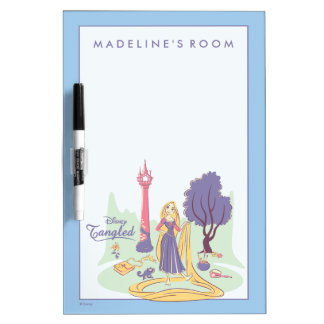 Rapunzel & Pascal in Pretty Pastels Dry Erase Board