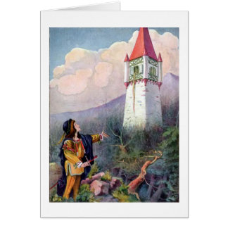Rapunzel's Tower (Blank Inside) Card