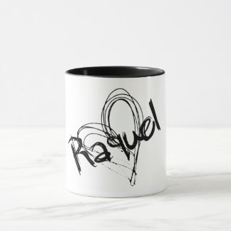 Raquel name mug