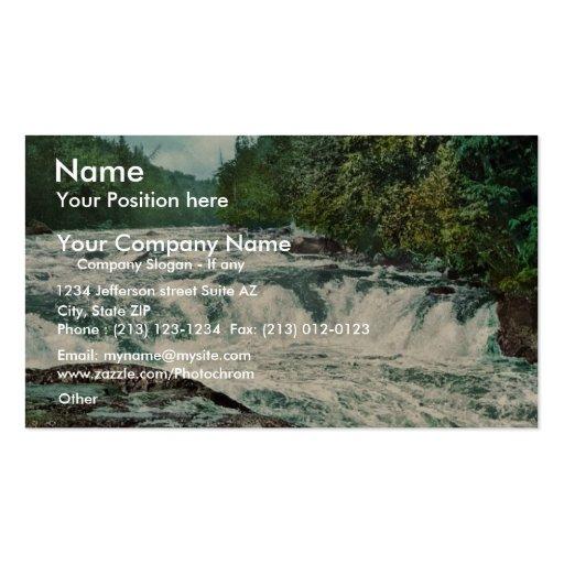 Raquette Falls, Adirondack Mountains rare Photochr Business Card Template