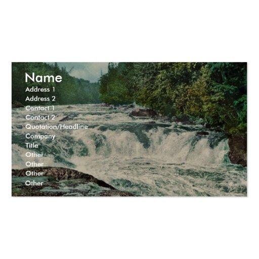 Raquette Falls, Adirondack Mountains rare Photochr Business Card Templates