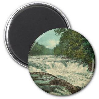 Raquette Falls on the Raquette River 6 Cm Round Magnet
