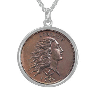 Rare 1793 U.S. Penny Round Pendant Necklace
