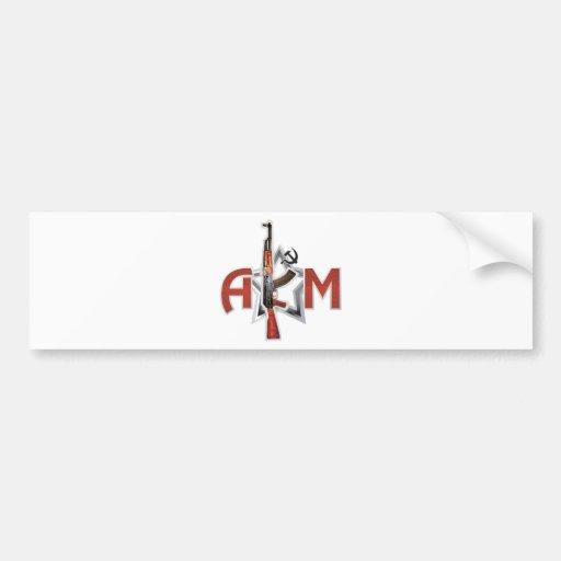 RARE AK-47 AKM ARMY KALASHNIKOV GUN MILITARY BUMPER STICKER