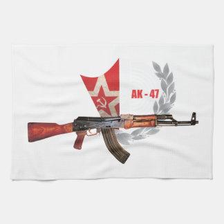 RARE AK-47 ARMY KALASHNIKOV GUN MILITARY TEA TOWEL