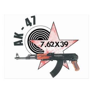 RARE AK-47 RUSSIAN ARMY KALASHNIKOV GUN MILITARY POSTCARD