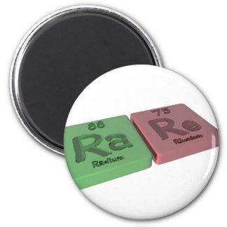 rare as Ra Radium and Re Rhenium Magnet