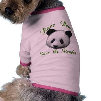 Rare Bear Save the Pandas Ringer Dog Shirt
