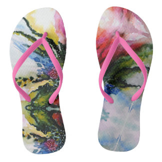 Rare Beauty Watercolor Flip Flops