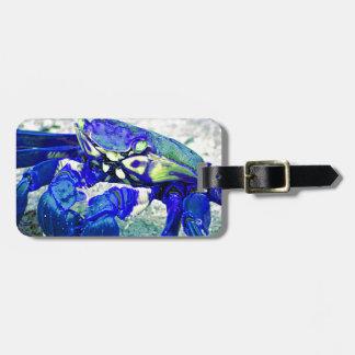 Rare Blue Crab Luggage Tag
