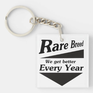 Rare Breed Double-Sided Square Acrylic Key Ring
