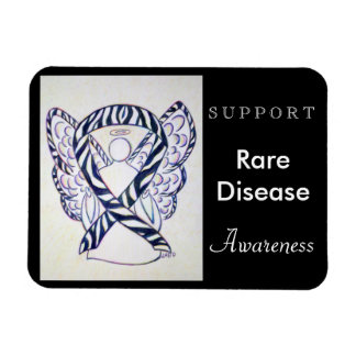 Rare Disease Awareness Ribbon Angel Custom Magnet