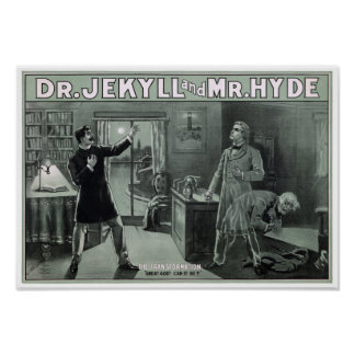 Rare Dr. Jekyll and Mr. Hyde Transformation Poster