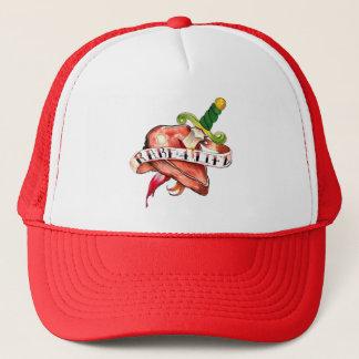 Rare for life trucker hat