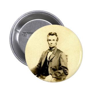 RARE President Abraham Lincoln STEREOVIEW VINTAGE 6 Cm Round Badge