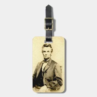 RARE President Abraham Lincoln STEREOVIEW VINTAGE Bag Tag