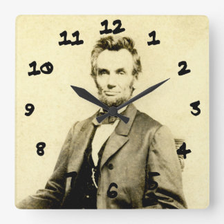 RARE President Abraham Lincoln STEREOVIEW VINTAGE Wallclock