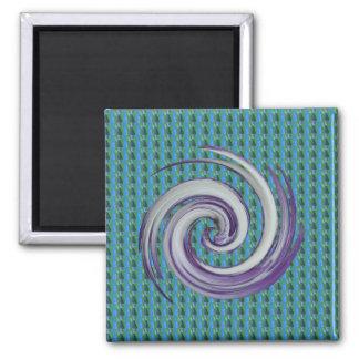 Rare Treat Swirl Square Magnet
