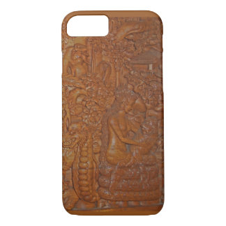 Rare Vintage Bali Wood Art iPhone 7 Case