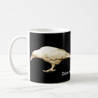 Rare White (leucystic) Raven for Bird-lovers Basic White Mug