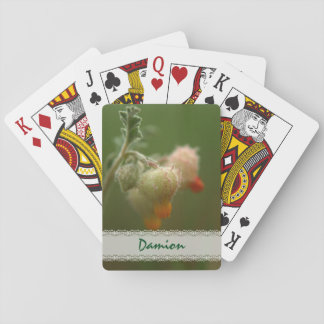Rare wild South-African flowers. Poker Deck