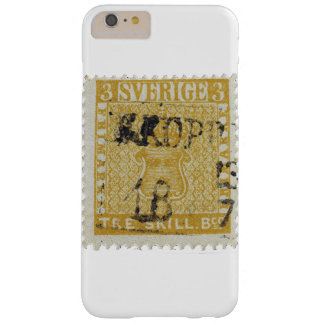 Rare Yellow 3 Skilling Stamp of Sweden 1855 Barely There iPhone 6 Plus Case