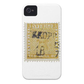 Rare Yellow 3 Skilling Stamp of Sweden 1855 iPhone 4 Case-Mate Cases