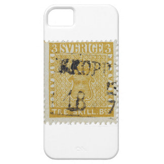 Rare Yellow 3 Skilling Stamp of Sweden 1855 iPhone 5 Cover