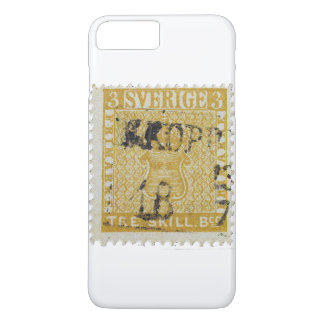 Rare Yellow 3 Skilling Stamp of Sweden 1855 iPhone 7 Plus Case