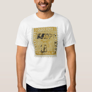 Rare Yellow 3 Skilling Stamp of Sweden 1855 Tshirt