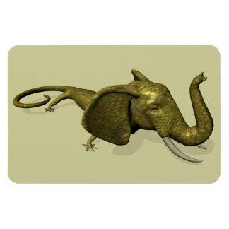 Rarely Seen Geckophant Rectangular Photo Magnet
