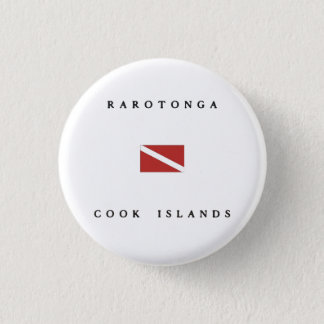 Rarotonga Cook Islands Scuba Dive Flag 3 Cm Round Badge