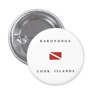 Rarotonga Cook Islands Scuba Dive Flag 3 Cm Round Badge