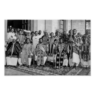 Ras Tafari with Ethiopian Royalty Poster