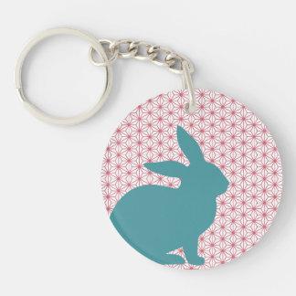 Rascal Rabbit Double-Sided Round Acrylic Key Ring