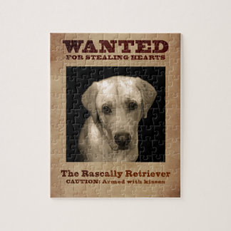 Rascally Retriever, aka Yellow Lab Jigsaw Puzzle